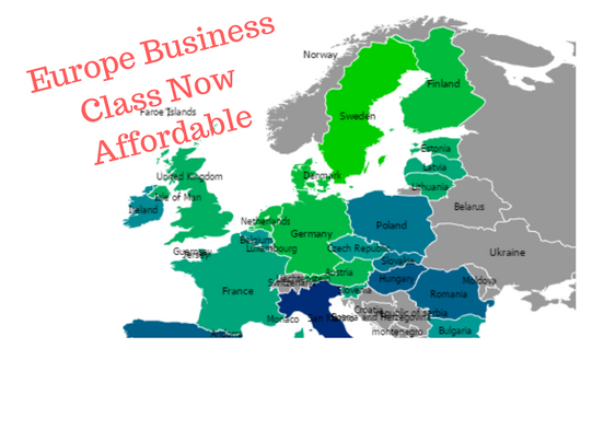 Europe Business Class Now Affordable
