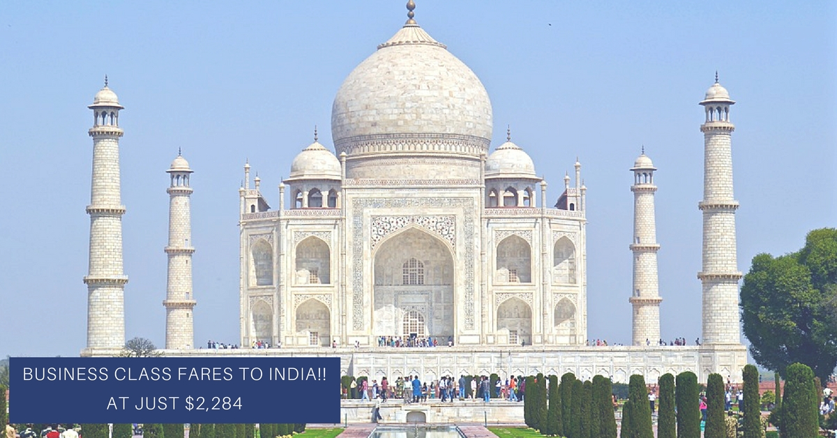 Business Class fares to India!! at Just $2,284