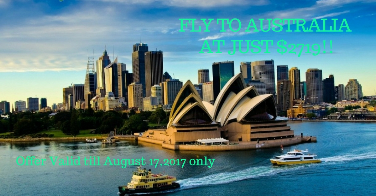 Fly To Australia at Just $2719!!