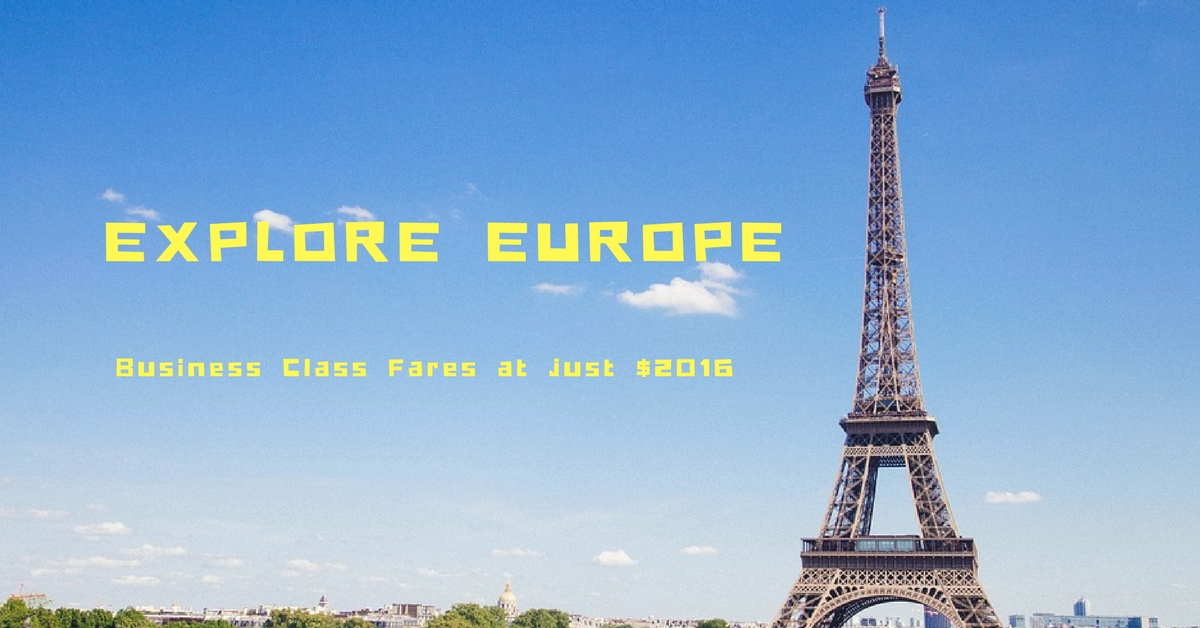 Fly To Europe At Just $2016