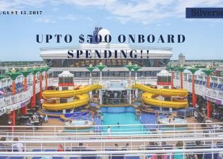 Upto $500 Onboard spending!!