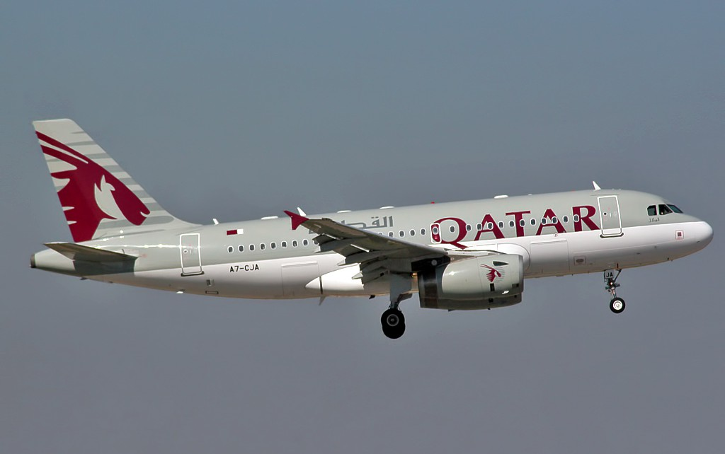 Airbus_A319-133LR_Qatar_Airways_A7-CJA