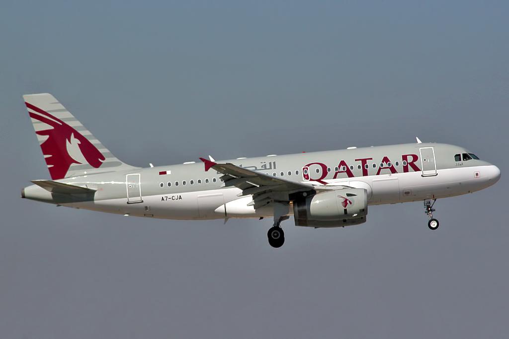 Airbus_A319-133LR_Qatar_Airways_A7-CJA