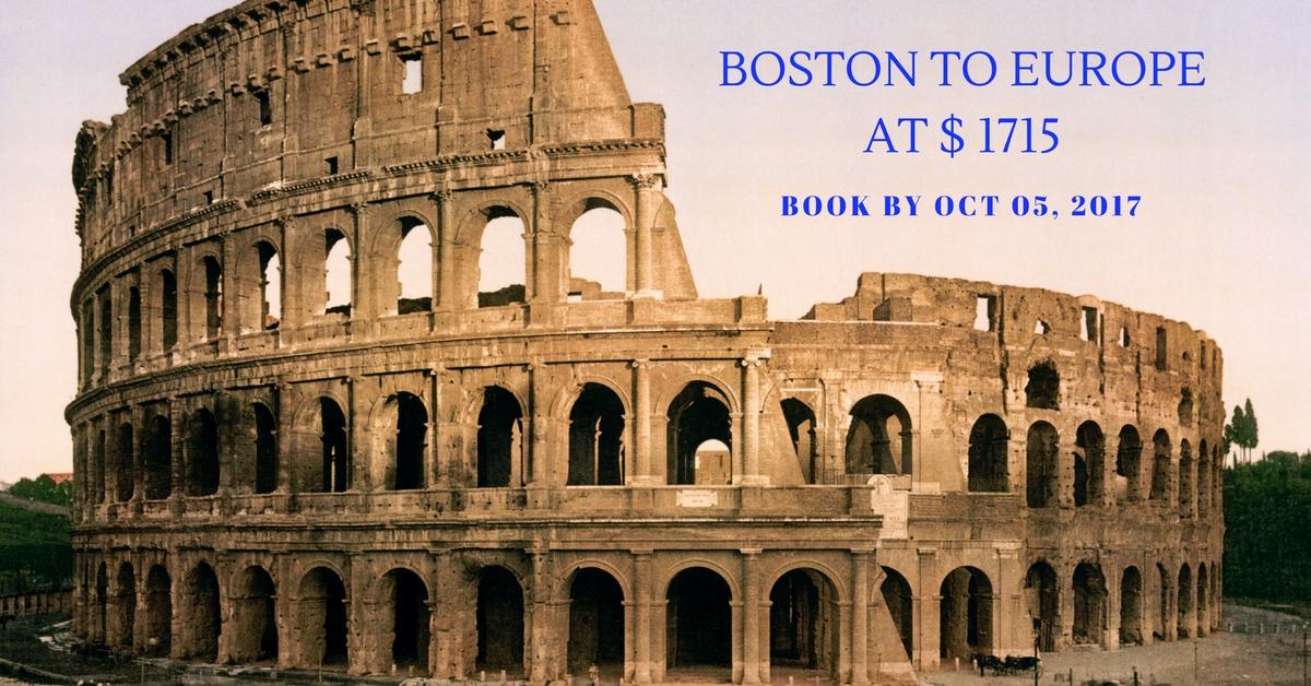 Boston to Europe at $ 1715