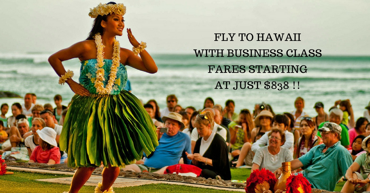 Business class fares starting at just $838