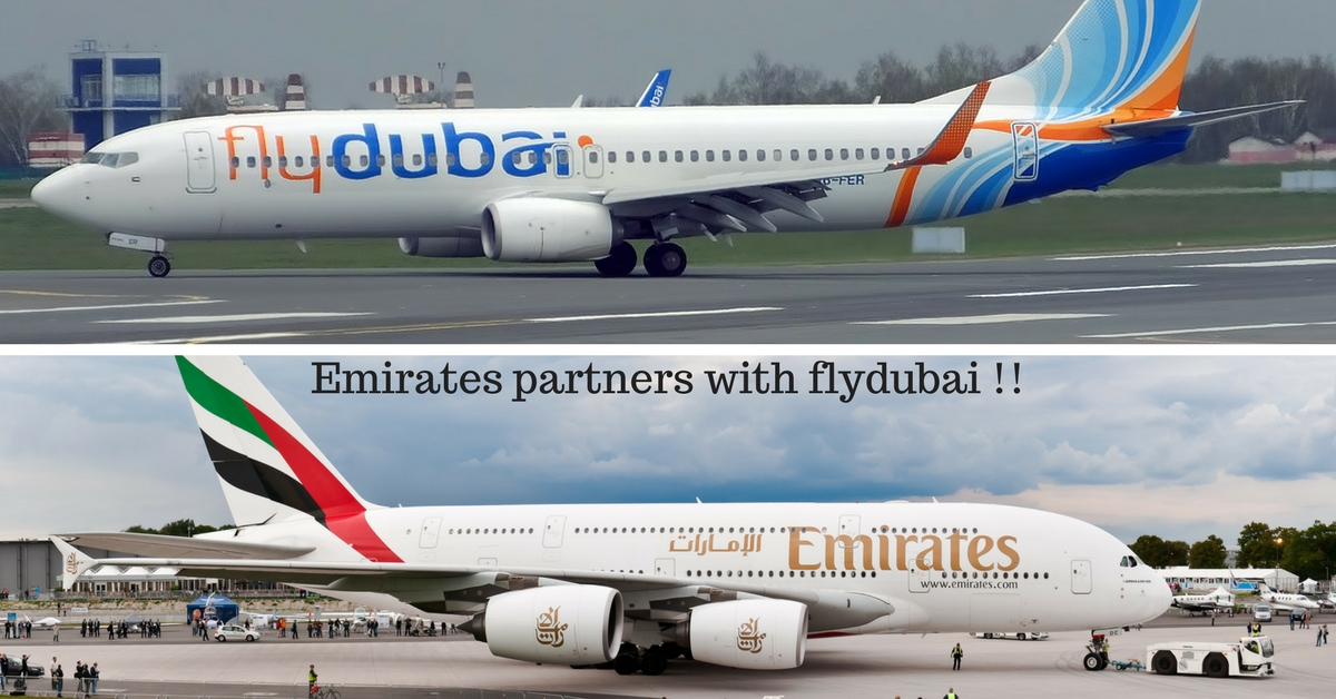 Emirates partners with flydubai !!