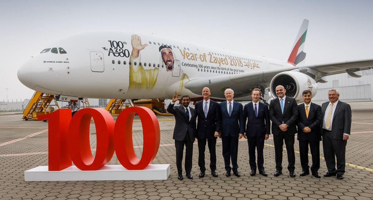 emitates 100th A380