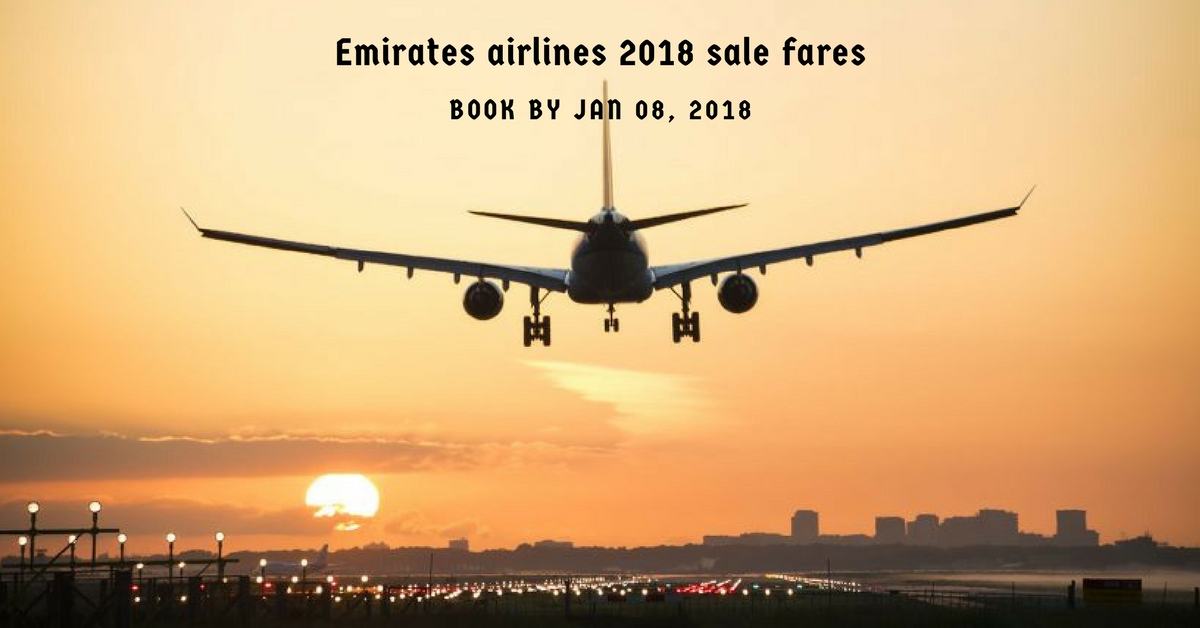 Emirates airlines 2018 sale fares