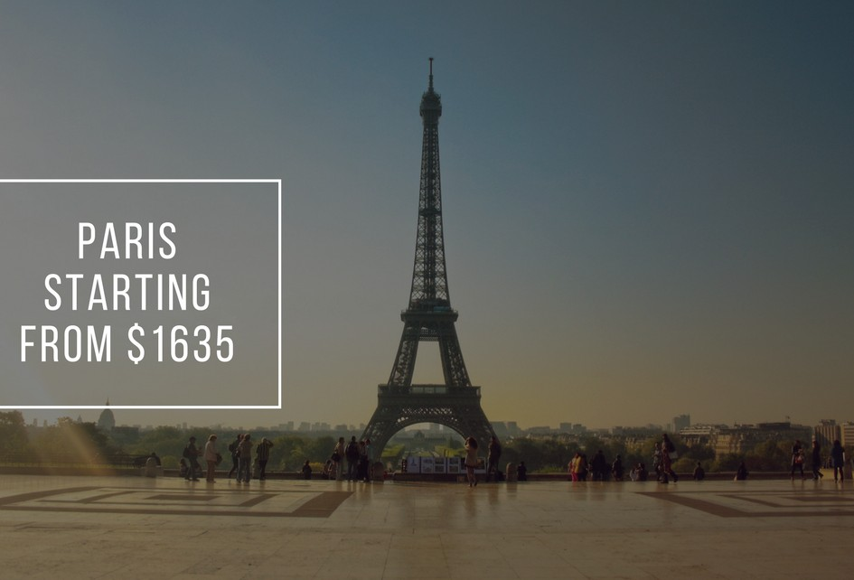 Paris starting from $1635