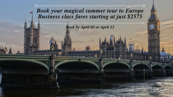 Business class flights to Europe