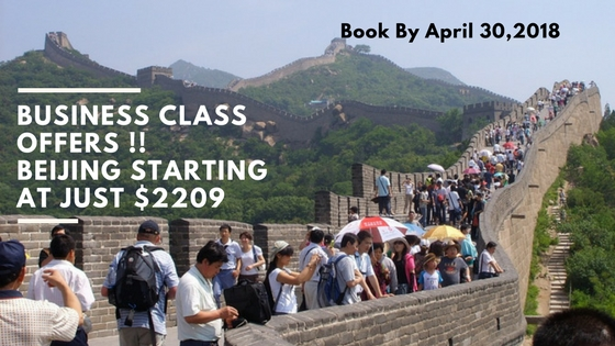 Business class offers !! Beijing Starting at just $2209