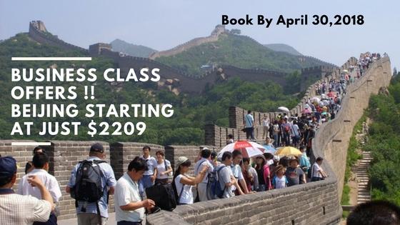 Business class offers !! Beijing Starting at just $2209