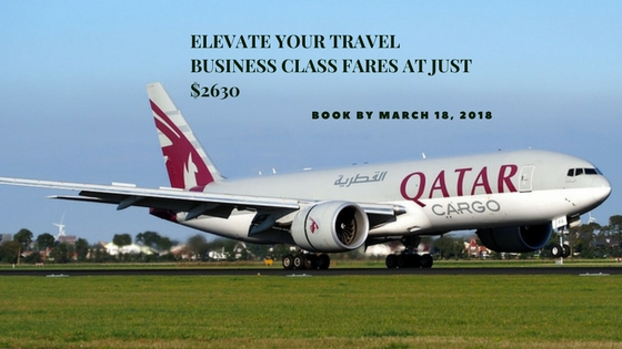 Elevate your travel Business class fares at just $2630