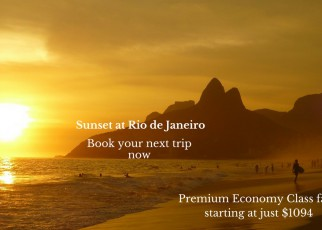 Premium Economy Class fares Starting at just $1094