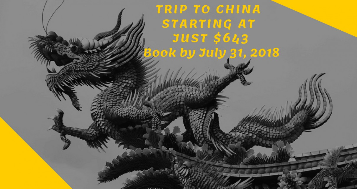 Trip to China starting at just $643