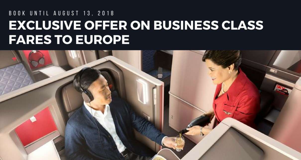 Business class fares offers