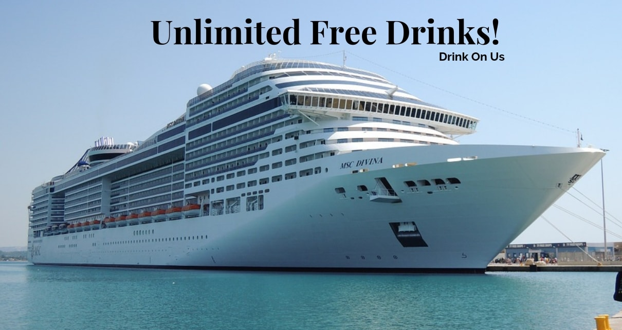 Cyber Monday Sale- Unlimited Free Drink On-board