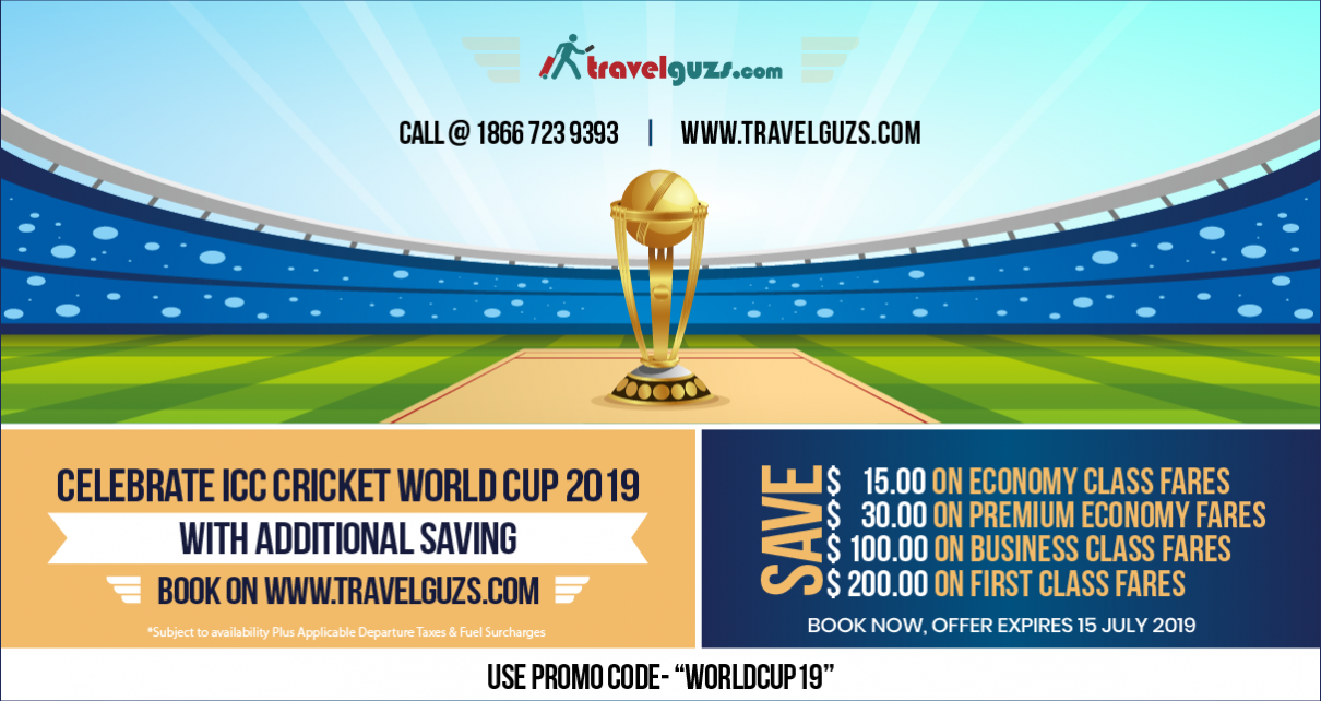 Flight Offer For ICC Cricket World Cup 2019