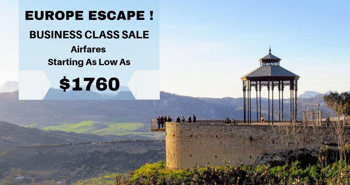 Business Class Flights To Europe