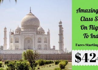 First Class Flight Sale On Travel To India