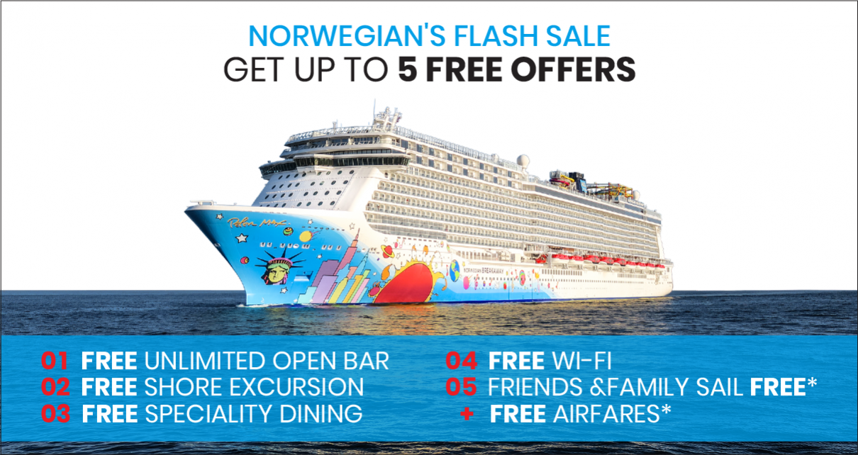 Best Norwegian Cruise Vacations- Free At Sea Offer