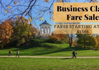 Business Class Fare Sale Banner