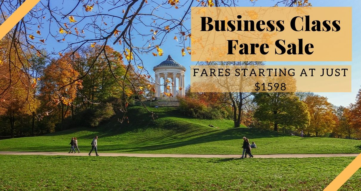 Business Class Fare Sale Banner
