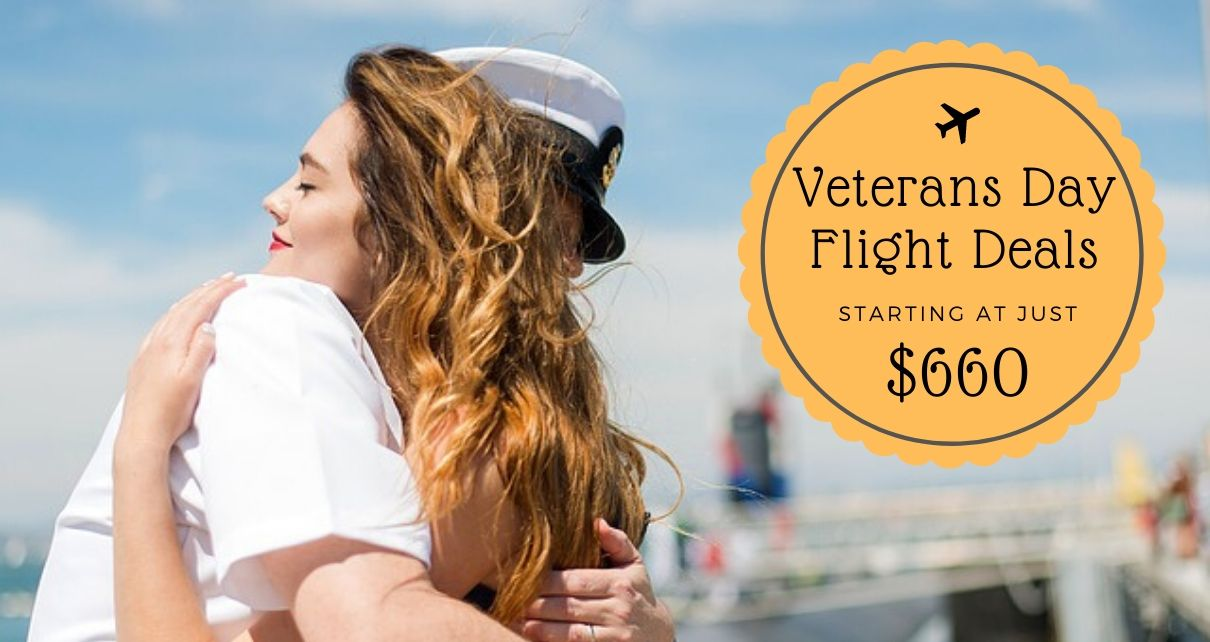 Veterans Day Flight Deals To Make You Save On Your Journey