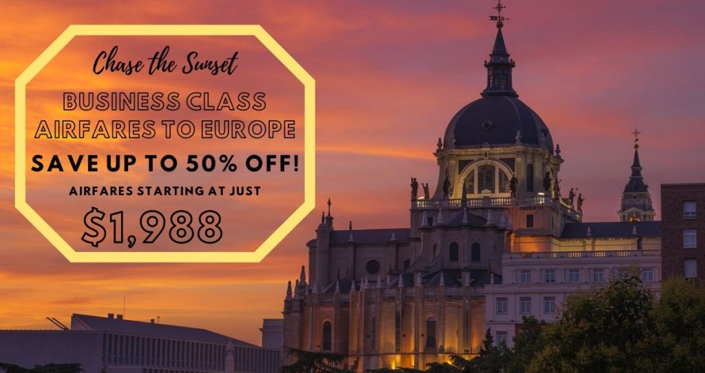 Business Class Airfare To Europe