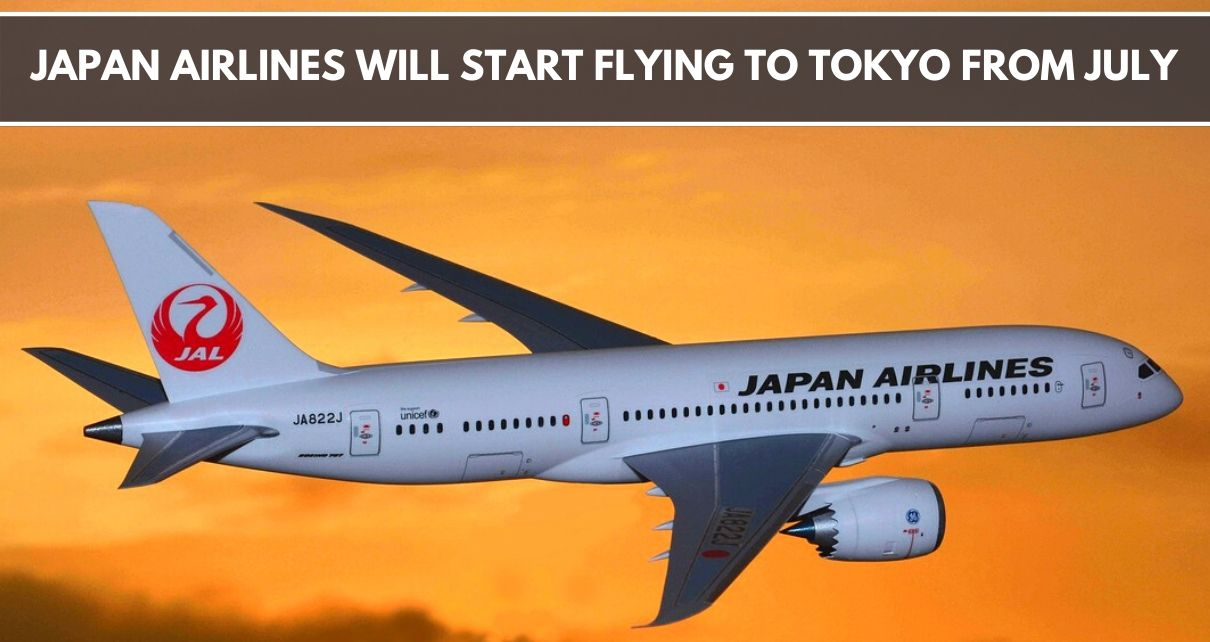 Japan airlines started their services to tokyo