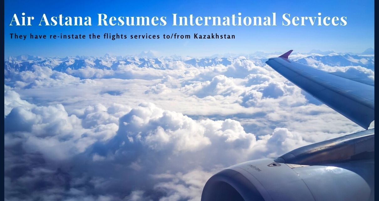 Air Astana resumes international services