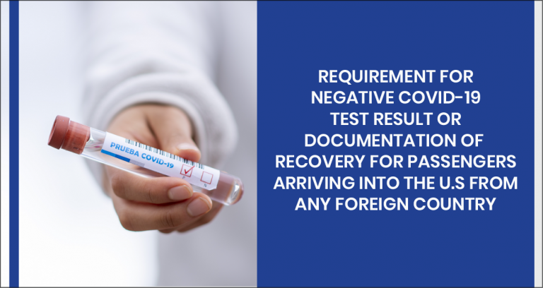 Negative COVID-19 Test Required For International Travelers Entering US