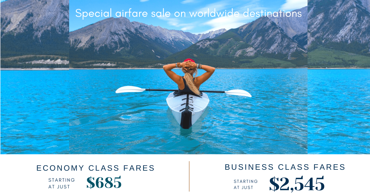 Special Airfares Starting As Low As$685