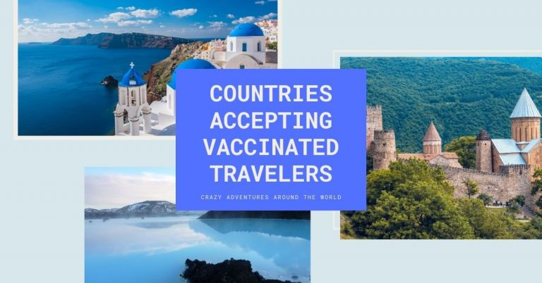 Countries accepting vaccinated travelers
